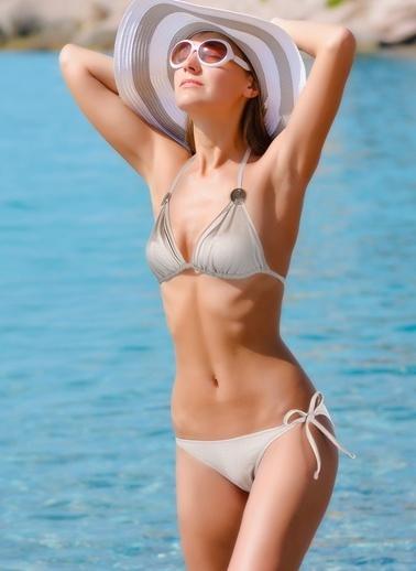 Miorre Boyundan Bağlamalı Bikini Vizon
